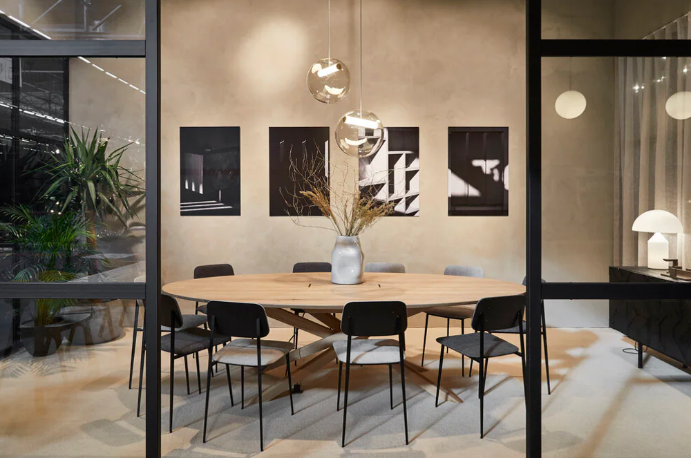 Oak Mikado Meeting Table